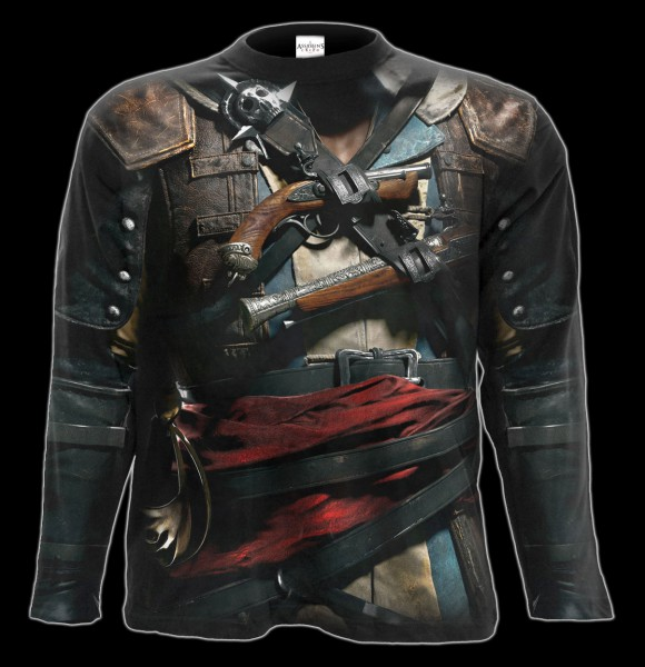 Assassins Creed Langarmshirt - Black Flag