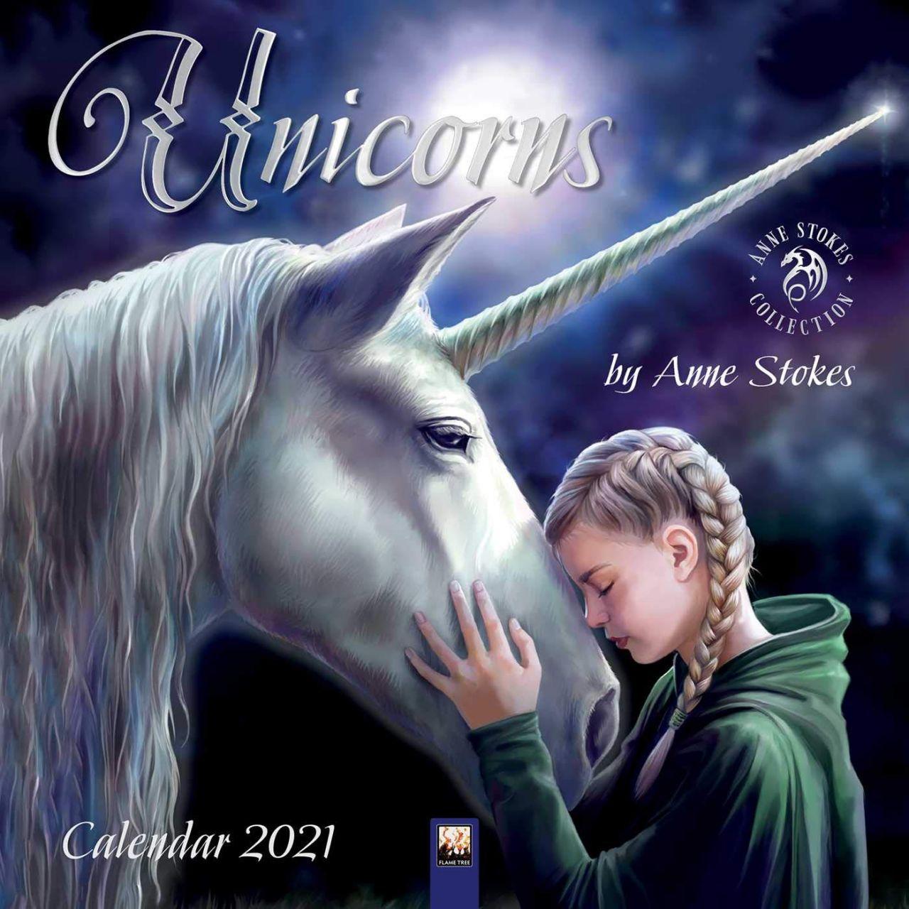 Anne Stokes Calendar 2021 - Unicorns