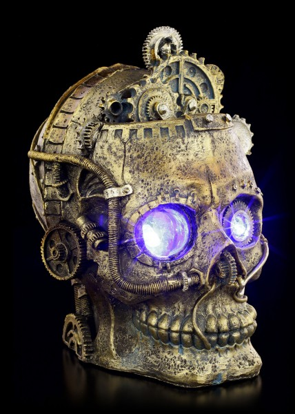 Steampunk Totenkopf mit LED - Bright Eyes