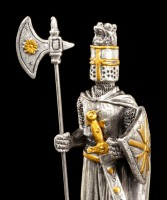 Pewter Knight Figurine - Maltese with Halberd