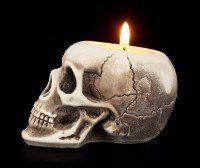 Teelichthalter - menschlicher Schädel - klein