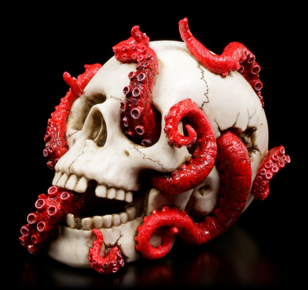 Skull with Tentacles - Devoured