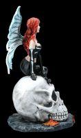 Elfen Figur - Gotha auf Totenschädel