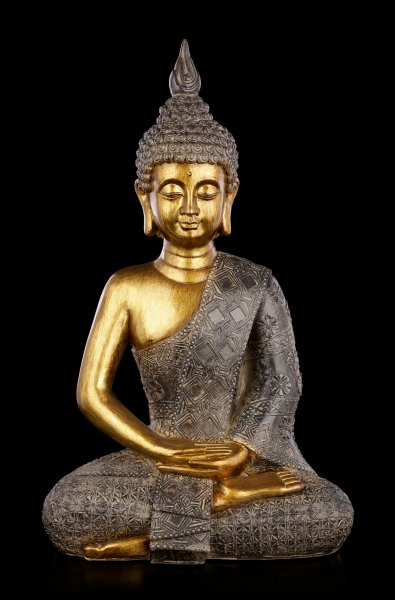 Buddha Figurine - gold colored