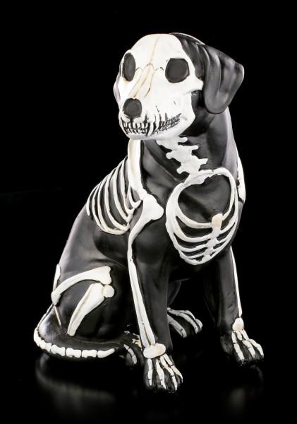Schwarze Skelett Hunde Figur - Day of the Dead