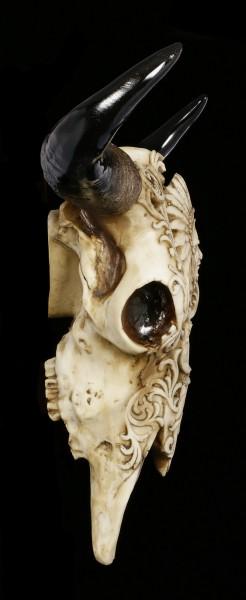 Wall Plaque Bull Skull - Indian Chief