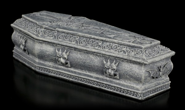Coffin Box with Cross and Rose