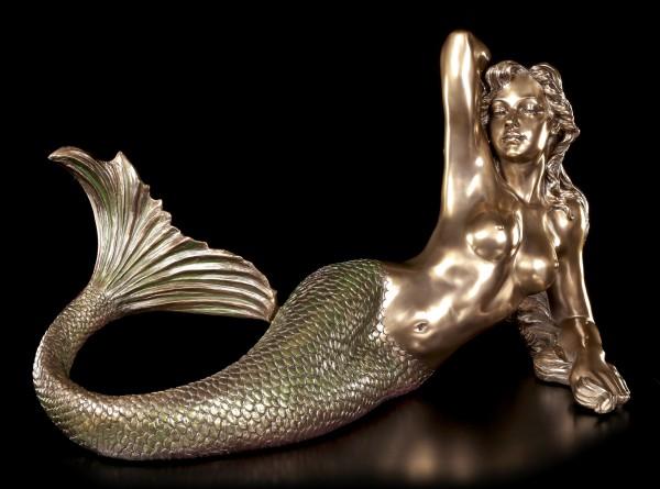 Große liegende Meerjungfrau Figur