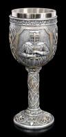 Goblet - Crusader holds Sword - silver colored