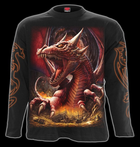 Langarmshirt Drache - Awake The Dragon