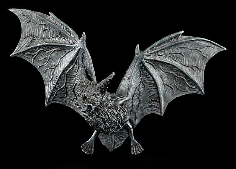 Bat Wall Plaque Gothic - medium