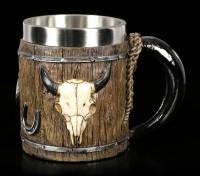 Western Tankard - Bull Skull