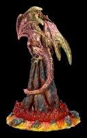 Lava Drachen Figur mit LED - Volcanic Victorey