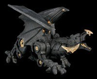 Schwarzer Steampunk Drache