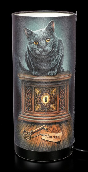 Table Lamp with Cat - Pandoras Box