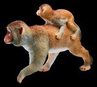 Garden Figurine - Monkey Mama carries Baby