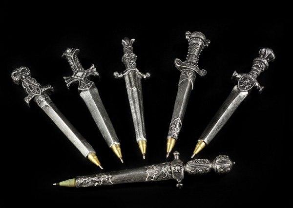 Kugelschreiber als Schwert - 6er Set