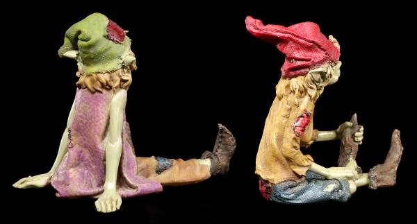 Pixie Figuren - Sitzend auf dem Boden - 2er Set