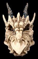 Schatulle - Gehörnter Drachen Totenkopf