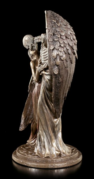 Todesengel Figur - Sweet Kiss of Death - bronziert