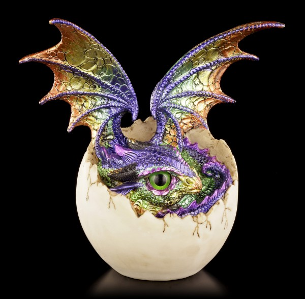 Dragon Figurine colorful - Imoogi in Eggshell