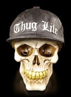 Gangster Totenkopf mit Goldzähnen - Thug Life