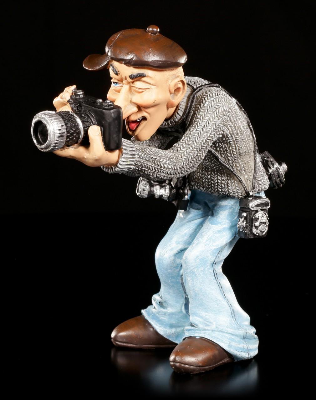 Funny Job Figurine - Photographer with modern Camera