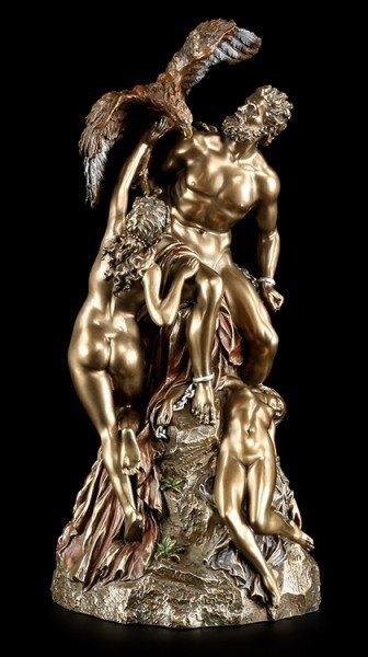 Prometheus Figur - Der Feuerbringer mit Adler Ethon