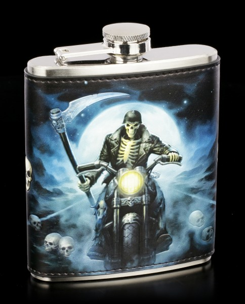 Hip Flask with Reaper - Hell Rider