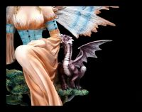 Fairy Figurine - Queen of the Universe with Dragon
