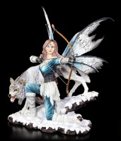 Fairy Figurine - Lupara with Wolf - Ready to fire Bow