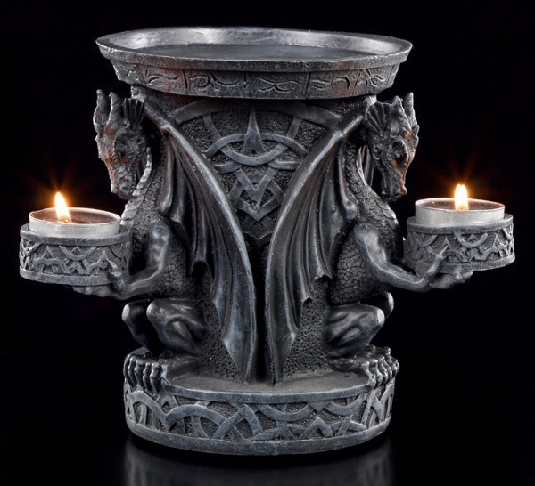 Dragon Tealight Holder- Three Wise Dragons