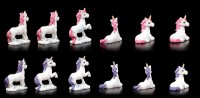 Einhorn Figuren 12er Set - Unicorn Wishes - klein