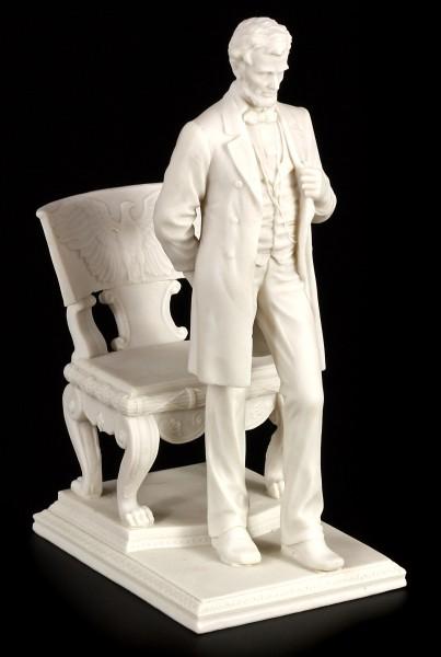 Abraham Lincoln Figur - weiß