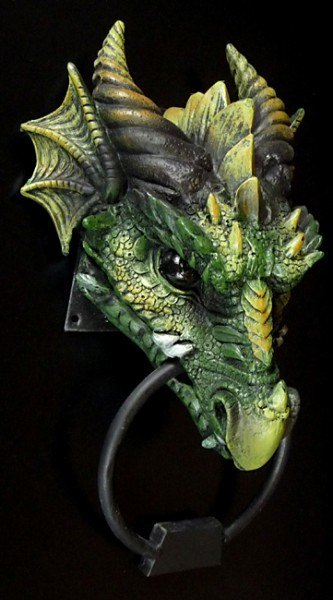 Türklopfer - Drache Kryst - grün