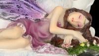 Elfen Figur - Euone schläft bei Einhorn