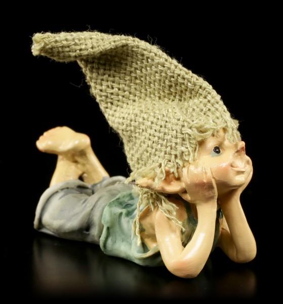Pixie Kobold Figur träumt - Ach ja...