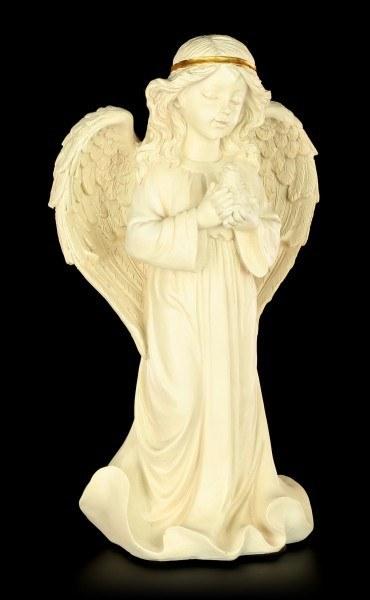 Engel Figur stehend - Kleine Taube
