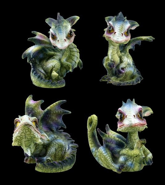 Drachen Figuren - Curious Hatchlings - 4er Set
