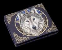 Herren Geldbörse mit Wolf - Wild One - geprägt