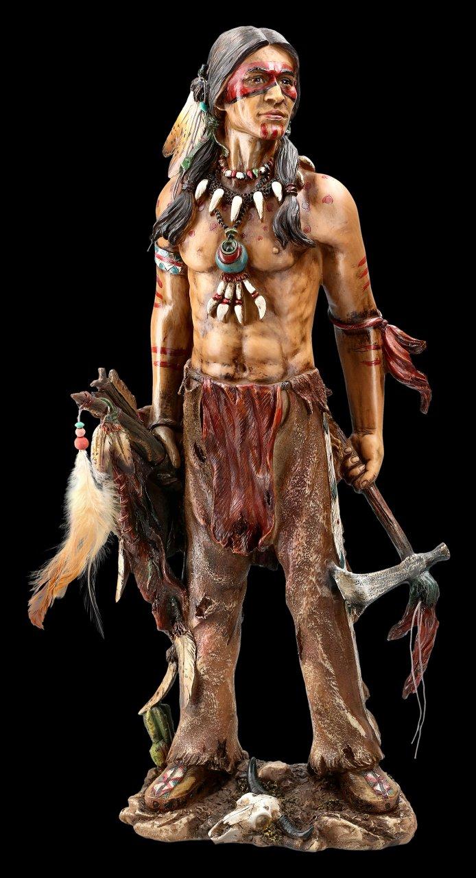 Indianer Figur mit Tomahawk