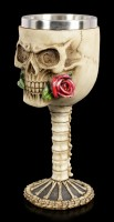 Totenkopf Kelch - Rose from the Dead - rot