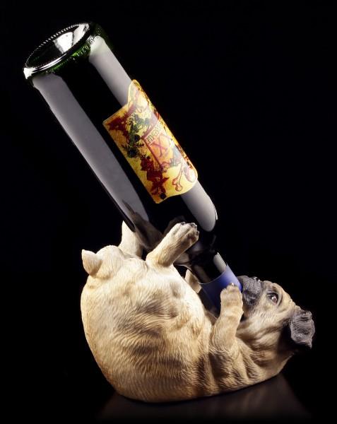 Flaschenhalter - Säufer Mops