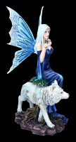 Fairy Figurine - Talanoa with Wolf