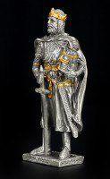 Zinn Ritter Figur - König Arthur