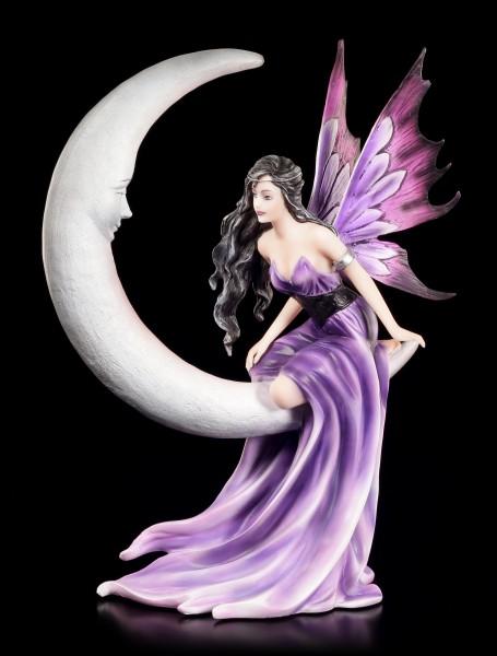 Elfen Figur sitzt auf Mond - Crescent Dreams
