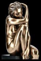 Female Nude Figurine - On Monolith turning Inward