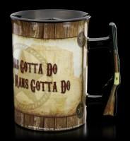 John Wayne Keramik Tasse - A Mans Gotta Do