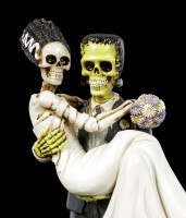 Frankenskull Figur mit Braut
