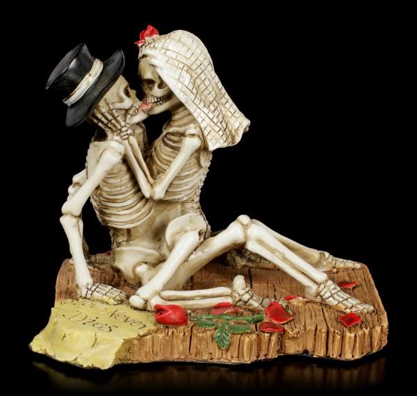Skeleton Couple Figurine - Love Never Dies